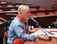 Van Wert Superintendent Mark Bagley gives his report during Wednesday's Board of Education meeting.