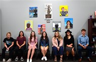 Ella Hernandez, Debbie Jones, Alexis Pangle, Gage Stemen, Sarah Verville, Emma Wallace, and Citlali Aguilar-Montiel were all honored for their artwork they created using the YWCA's mission statement.
