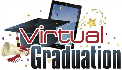 Virtual graduation graphic