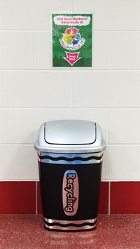 Recycling bin designated for markers