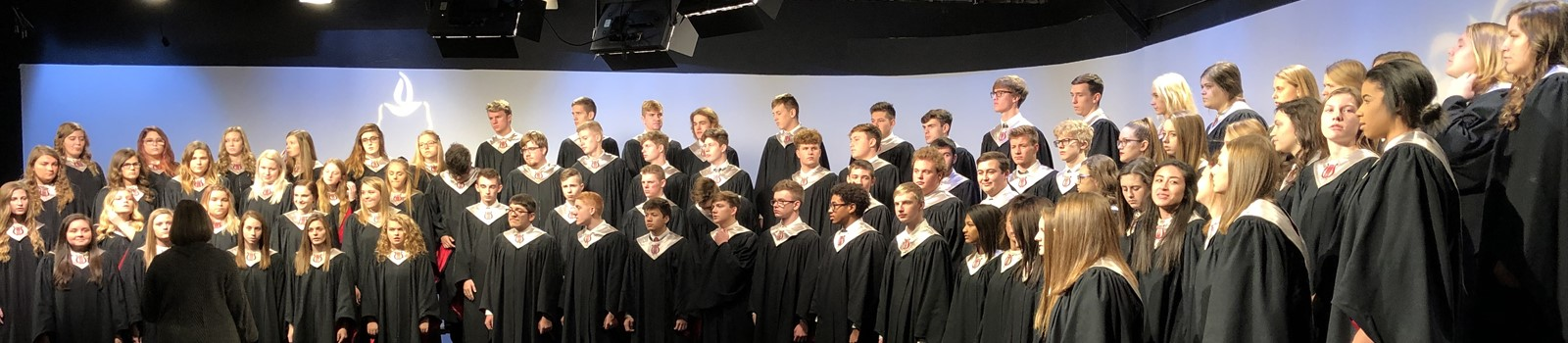 High School choir performing at Channel 44