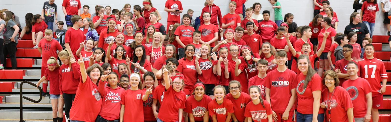 Van Wert Middle School's Fitness Festival red team