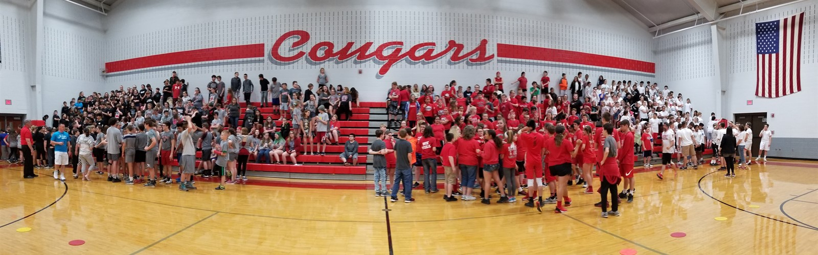 Van Wert Middle School student body at the Fitness Festival