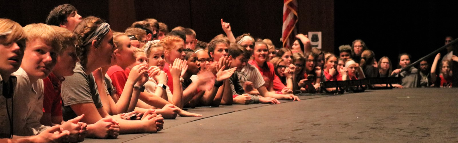 Students enjoy a performance during the lip sync contest