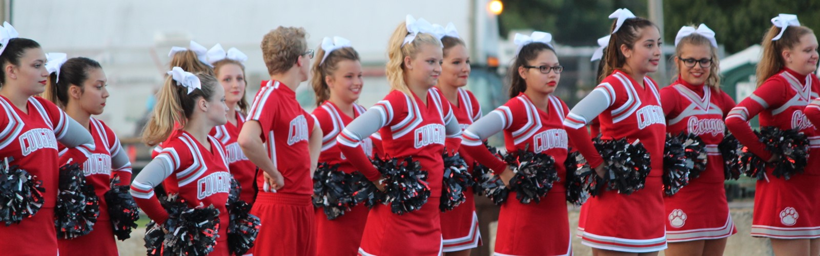 Van Wert High School cheerleaders compete at the Defiance county fair