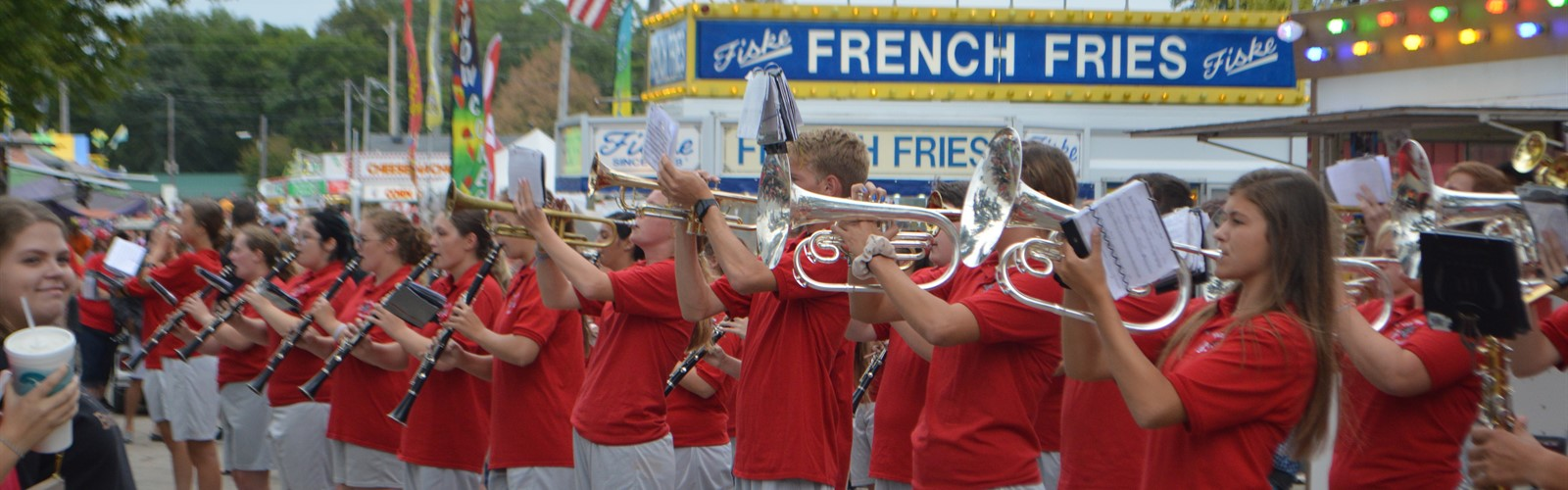 Van Wert High School Marching Band entertains at the Van Wert County Fair.