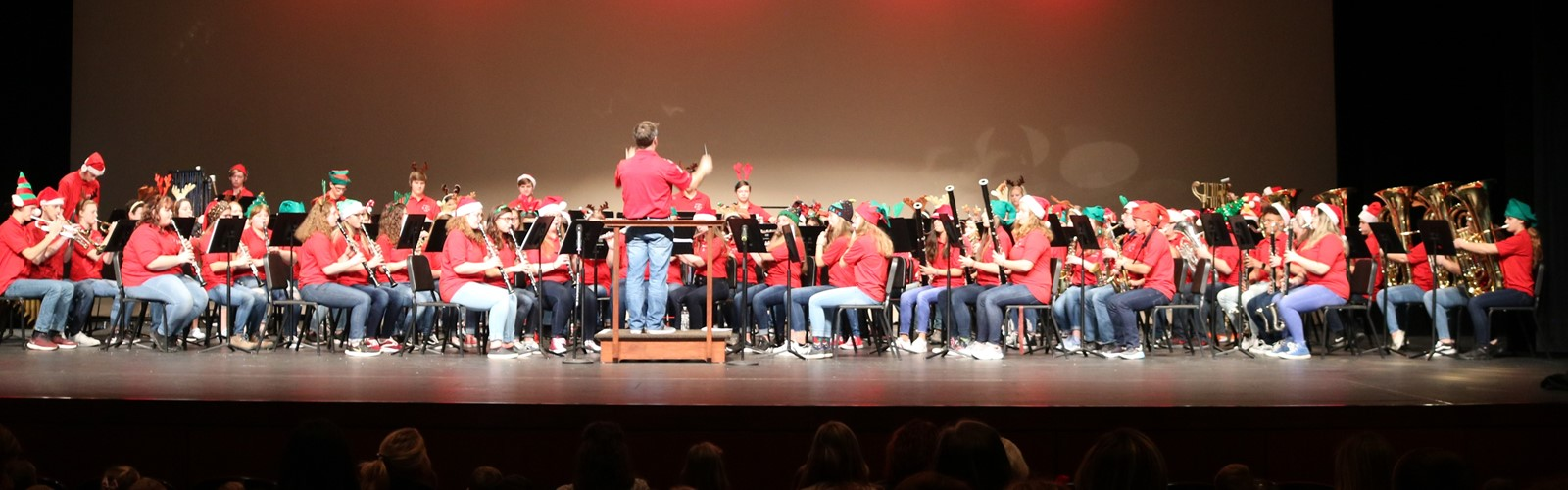 VWHS band performs at the Kiddie Christmas Concert