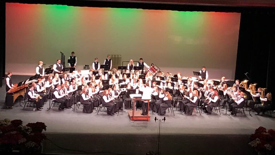 Band during Christmas Concert